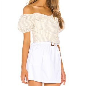 Superdown puff sleeve top XS